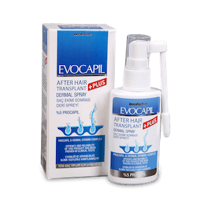 Evocapil after hair transplant spray